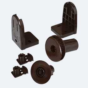 Механизм MGS 25, зебра, комплект, коричневый